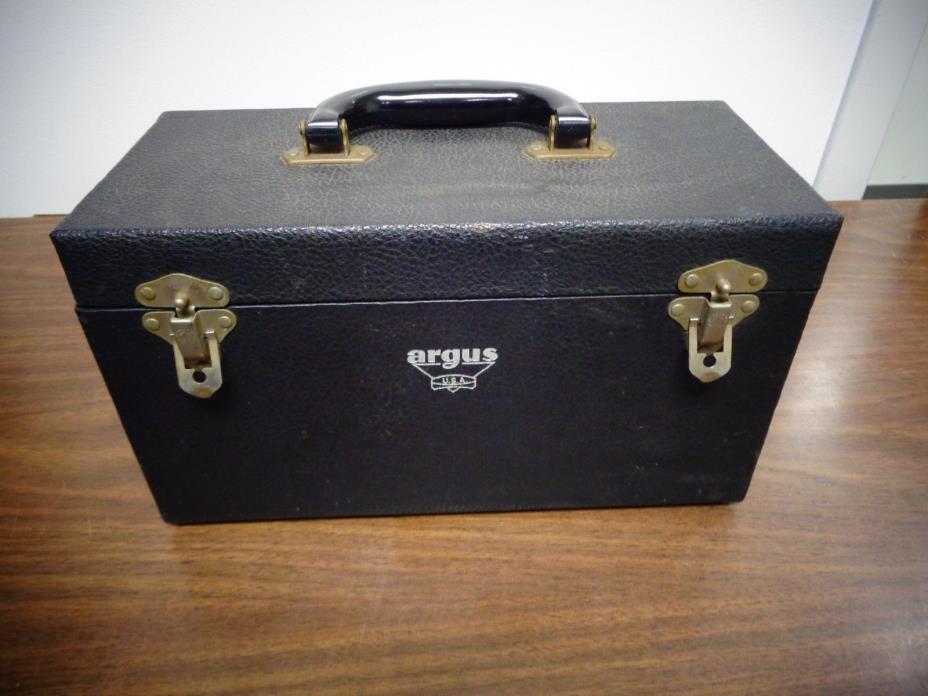 Vintage Argus slide film projector with case