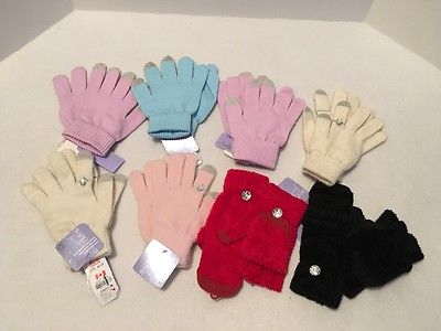 Lot #2 of 8 Pair SmartPhone Touch Screen Gloves Purple Pink Beige Graphic  $60+