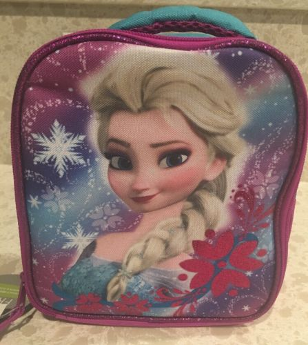 Disney FROZEN ELSA Lunch Bag Insulated Zippered School Lunch Tote
