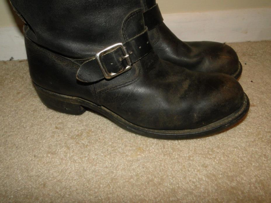 Vintage   Leather Boot Engineer Motorcycle Boot 60S size 9