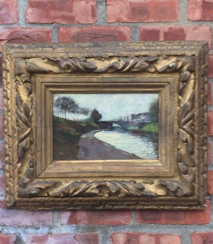 Boston School Artist Hermann Dudley Murphy Oil Painting.