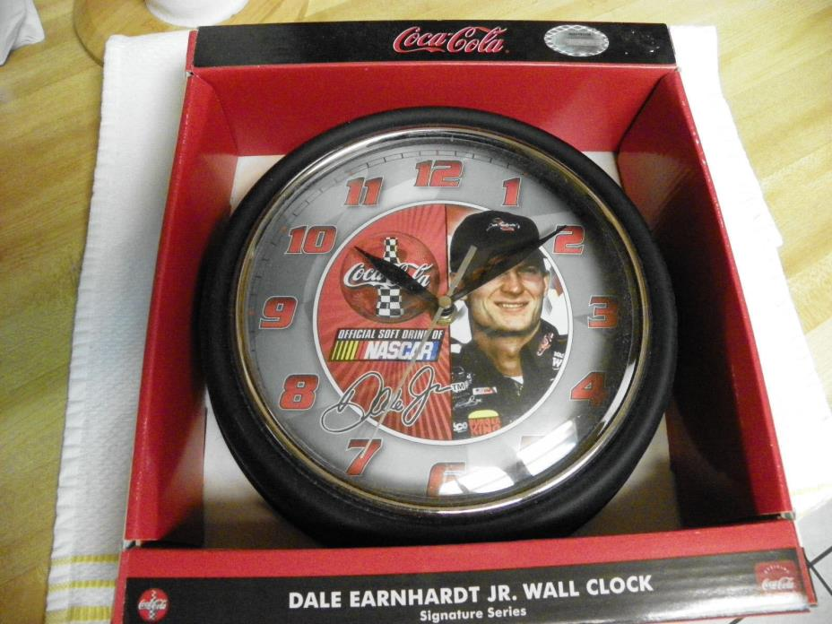 Dale Earnhardt Jr Coca Cola Wall Clock