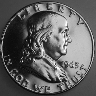 1963-P Franklin Half Dollar Silver Proof