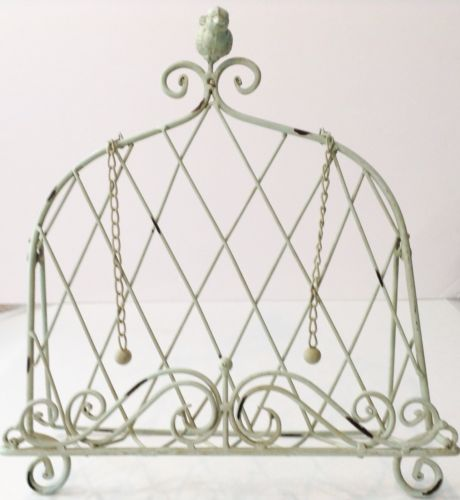 Shabby Cottage Chic Cookbook Book Holder Stand