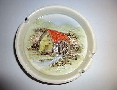 Otagiri 1981 WaterWheel House Ashtray Vintage Perfect cond Only one on Ebay