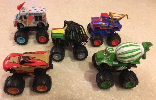Disney Pixar Cars Toons Monster Truck Set of 5