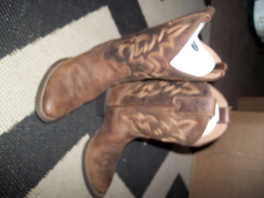 Justin Boots size 12D 12 Cattle Brown Buffalo cowboy boots 2254JR