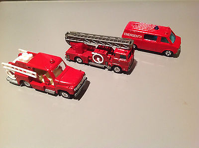 Tomica Emergency Vehicles - Hino Fire Engine - Isuzu Fire Engine - Chevy Van