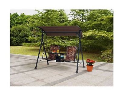 Bungee Swing 2 Seat Big Tall Console Pivoting Table Center Camo Outdoor Drink