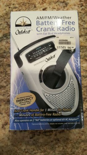 INNOVAGE OUTDOOR RADIO WEATHER/AM/FM HAND CRANKED BATTERY