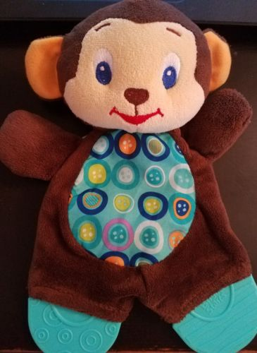 Bright Starts Baby Teether Crinkle Sound Monkey Toy