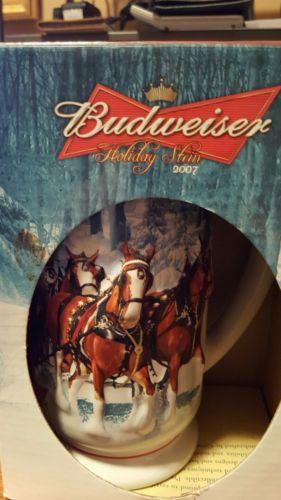 Budweiser Holiday Stein 2007