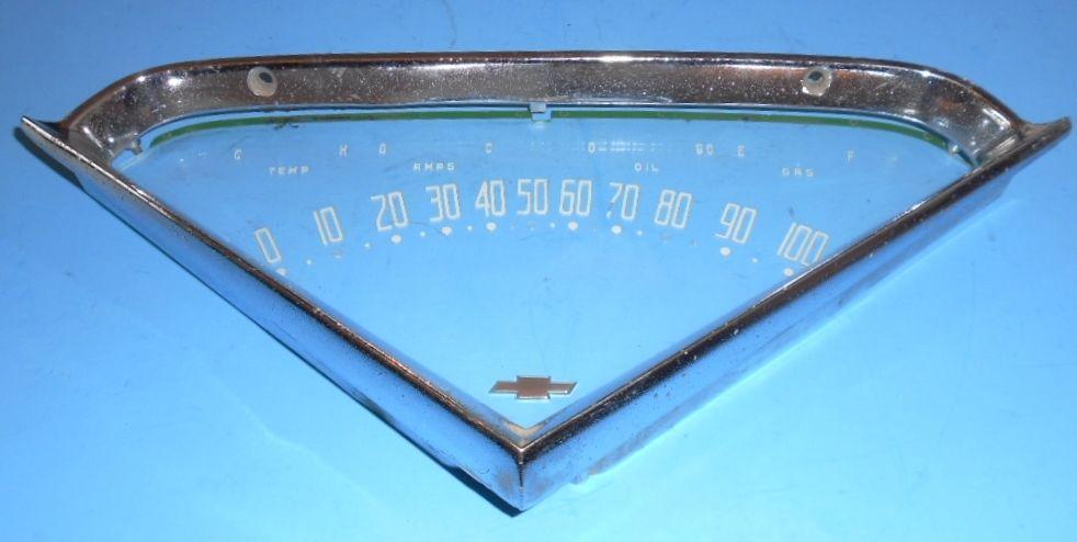 1950's Chevrolet Truck Speedometer LENS & BEZEL or FRAME  1955 thru 1959 Chevys