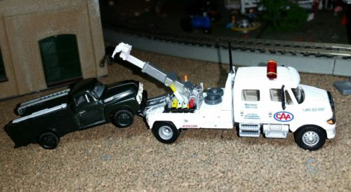 Custom Boley 1/87 'CAA' Crewcab Tow Truck w/Disabled Work Truck in Tow. HO Scale