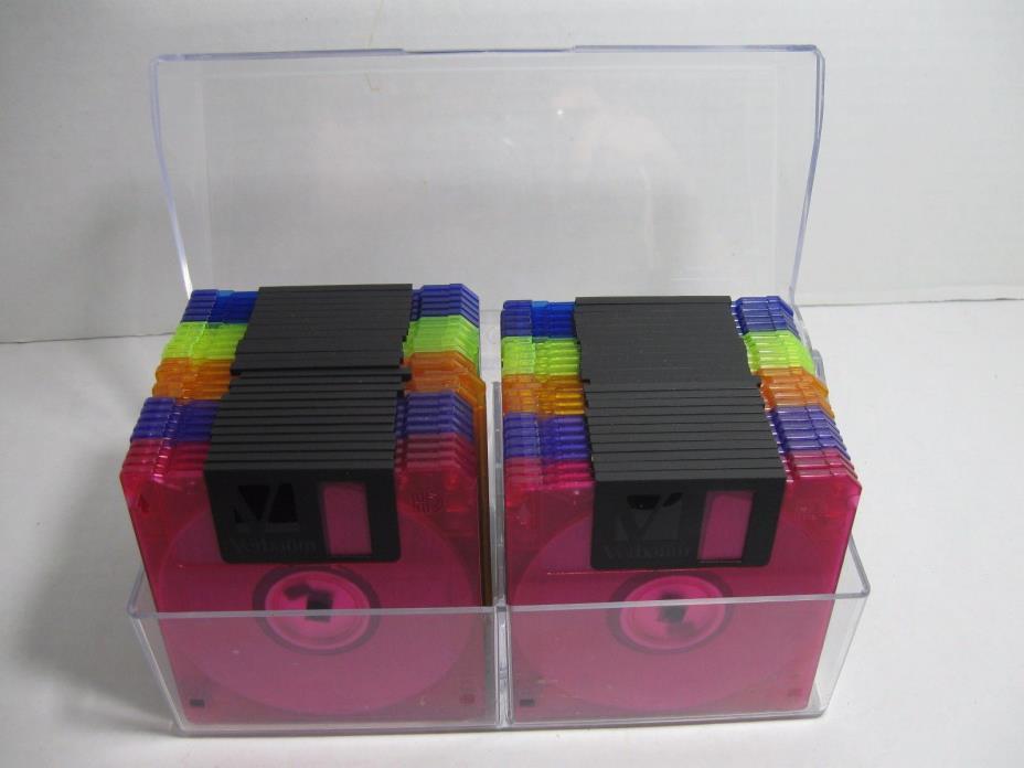 VERBATIM MF2HD DataLife Colors Diskettes 1.44MB 3.5