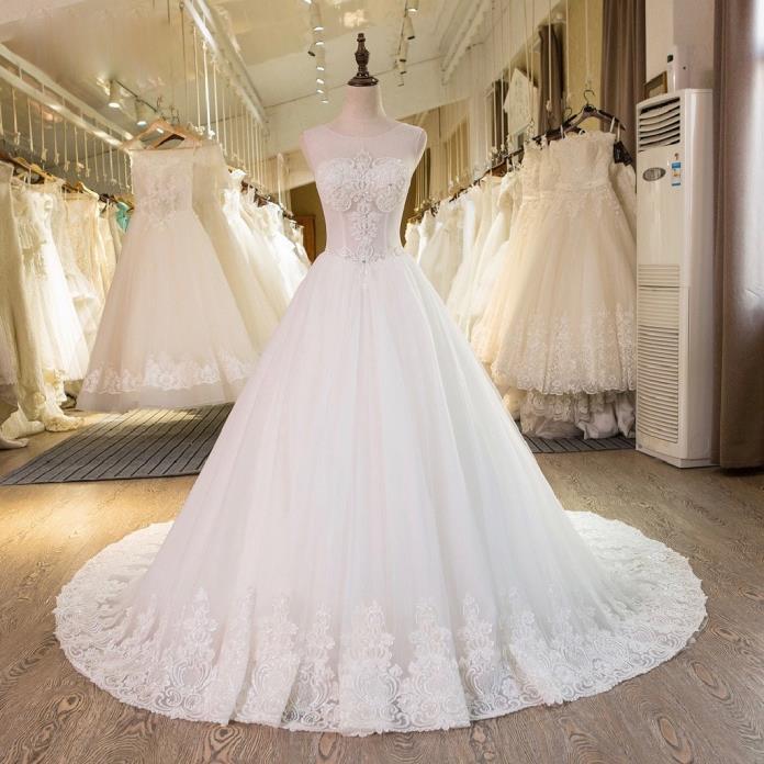Carol's Lace A Line Wedding Dress