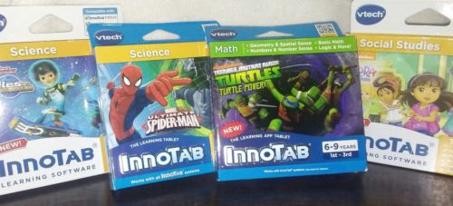 Lot of 4 Games Vtech InnoTab - Brand New - Sealed - (Check Description)