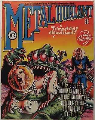 METAL HURLANT magazine #3 [Moebius, Philippe Druillet, Richard Corben, Tardi]