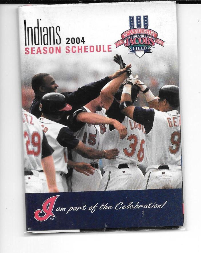 2004 Cleveland Indians BASEBALL POCKET SCHEDULE