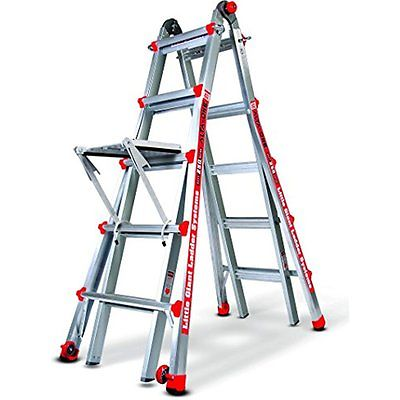 Step Ladders Little Giant Alta One 22 Foot Ladder with Work Platform (250-lb. 1