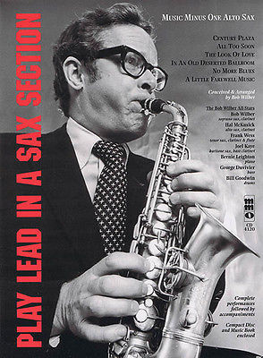 Play Lead in a Sax Section Alto Sax Sheet Music Minus One Play-Along Book CD NEW