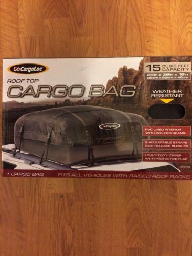 CargoLoc Rooftop Cargo Bag Universal Weather Resistant - NEW