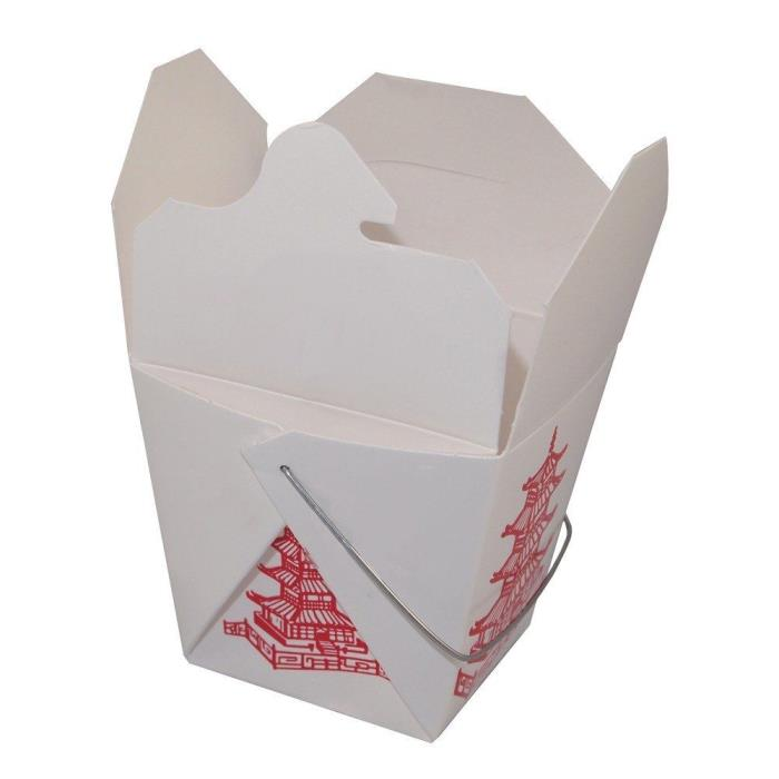 Pack of 50 Pagoda 8 oz Chinese Take Out Box / Asian Carry Out Food Container