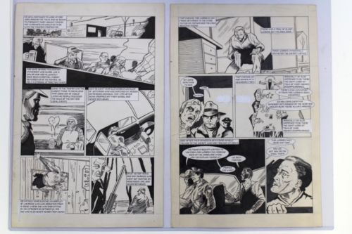 Psycho Killers Ed Gein #3 Pages Original Comic Book Artwork Texas Chainsaw