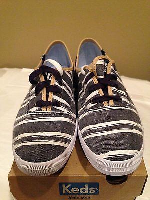 Keds  New Navy Stripe Tennis  Shoe  SIze 7M