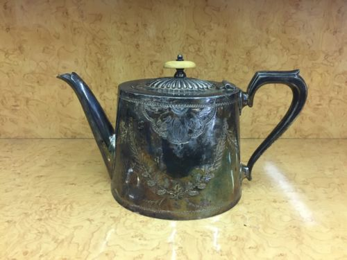 Antique Tarnished Silver Teapot