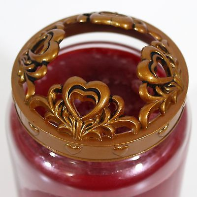 Yankee Candle Illuma-Lid Valentine's Day Gold Hearts Jar Topper Domed