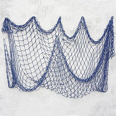 Bilipala Decorative Fish Netting,  Fishing Net Decor, Ocean Pirate Beach Theme
