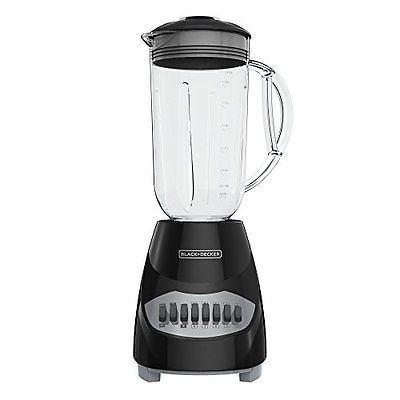 BLACK+DECKER BL2010BG Countertop Blender with 6-Cup Glass Jar, 10-Speed Set