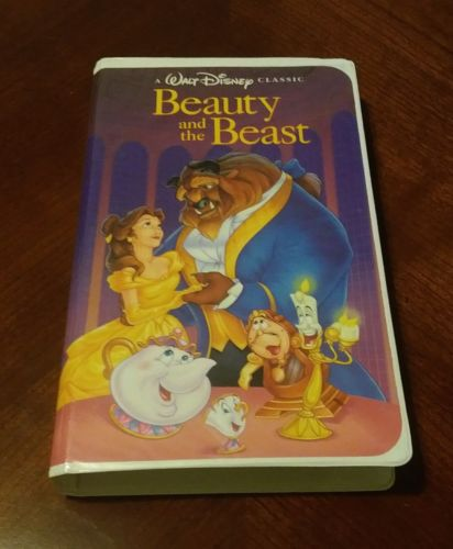 Disney's Beauty and The Beast VHS 1992 Black Diamond Classic Christmas Lead '92