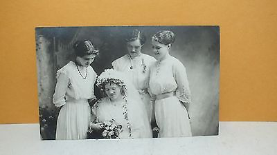 RPPC AZO Brides & Maids Wedding Dress Party Flowers P42