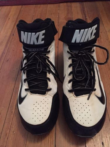 NIKE Hurache White&Black 3/4 Hightop Baseball Cleats Size 11.5 VGUC