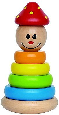 Hape Clown Stacker Toddler Wooden Ring Toy