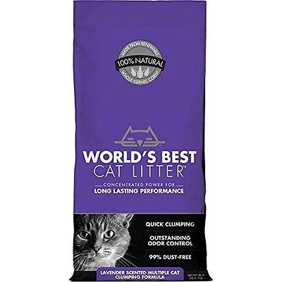 WORLDS BEST CAT LITTER Litter 391038 Multiple Cat Scented Clumping Formula,