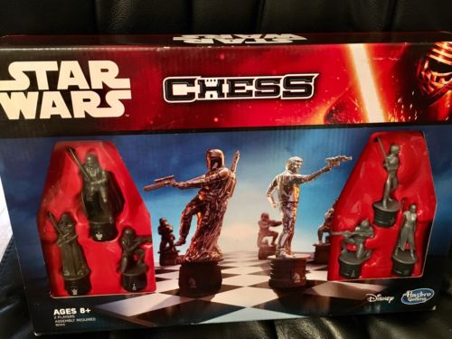 Classic Chess Game Star Wars Characters Edition Version Hasbro Family Set Travel