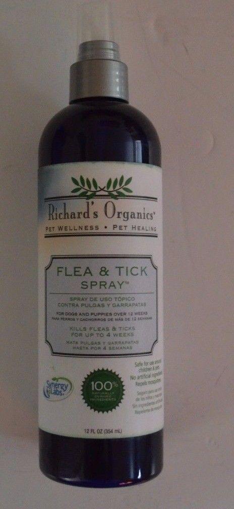 Synergy Labs Richards Organics Natural Flea & Tick Spray 12 fl. oz.