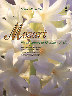 Mozart Piano Quintet in Eb Major K 452 French Horn Sheet Music Minus One Book CD