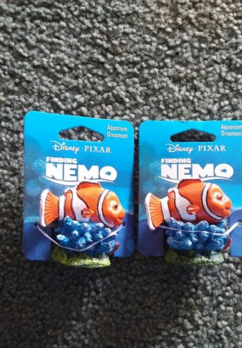 lot of 2 finding nemo aquarium ornaments mini nemo