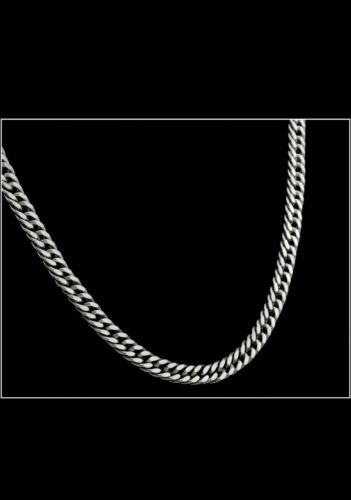 CURB LINK STERLING SILVER NECKLACE CHAIN 45.2 GRAMS 22