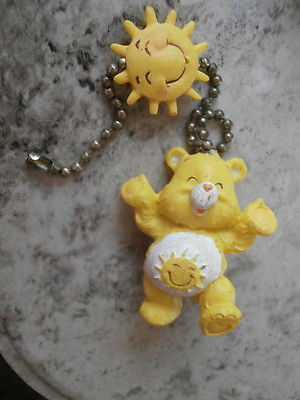 YELLOW SUNSHINE FUNSHINE CARE BEAR FAN PULL