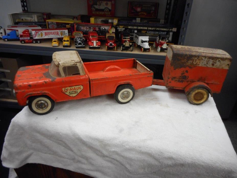 Vintage Collectable Steel Truck, Rare U-Haul Pickup Truck & U-Haul Trailer