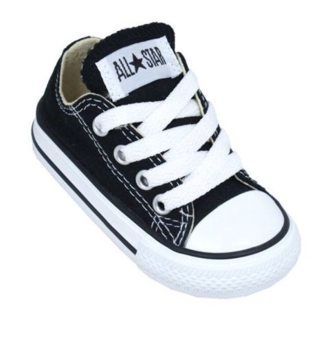 NEW Converse All Star Toddler 7 Black/White