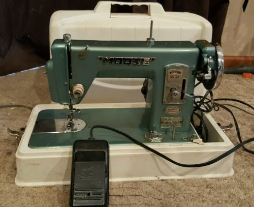 Vintage Morse Super Dial Blue Sewing Machine AS IS