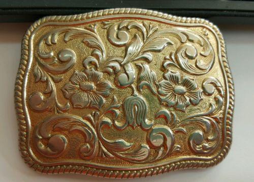 Art Nouveau Style 24Kt Gold Plate Chambers Phoenix Belt Buckle