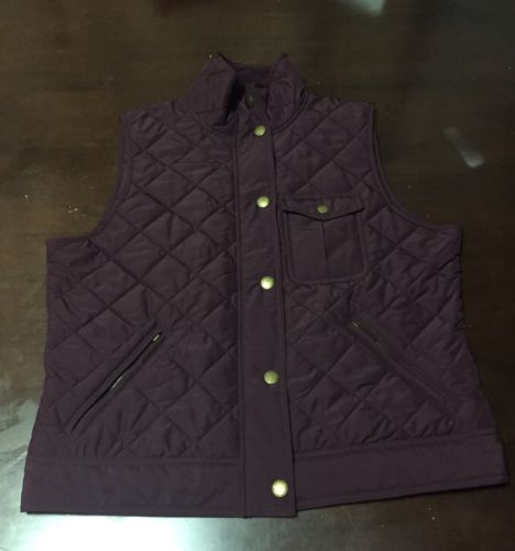 Quilted Vest Jacket Women's Ralph Lauren Polo Large