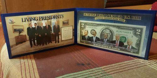LIVING PRESIDENTS COMMEMORATIVE TWO DOLLAR BILL